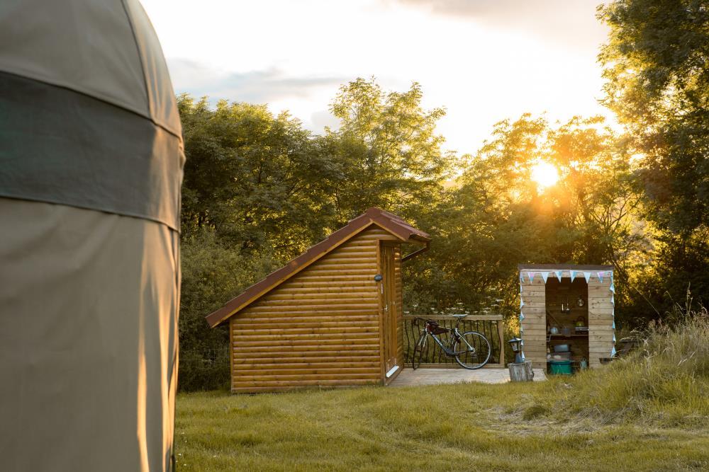 Mini Lodge at the campsite