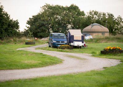 The campsite lawn