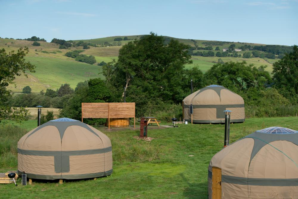 Yurt camping in the Lake District