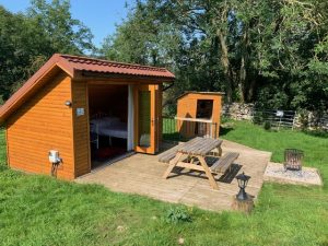 Lodge accommodation with doors open