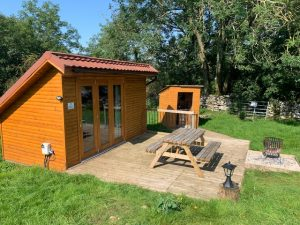 Lodge camping with doors closed